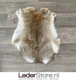 Rabbit skin grey brown white 45x35cm