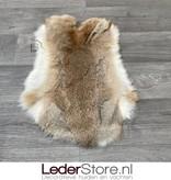 Rabbit skin grey brown white 55x35cm