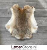 Rabbit skin grey brown white 50x40cm