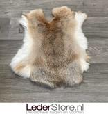 Rabbit skin grey brown white 45x40cm