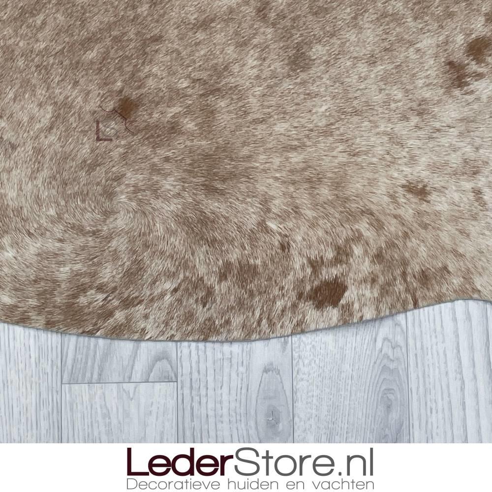 Cowhide rug brown white 235x210cm