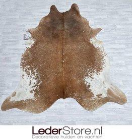 Cowhide rug brown white 225x210cmM/L