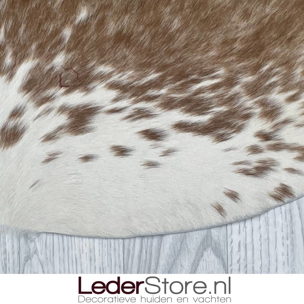 Koeienhuid bruin wit 225x210cm