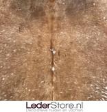 Cowhide rug brown white 225x210cm