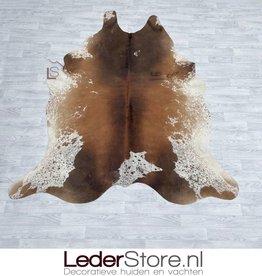 Cowhide rug brown black white 220x200cm