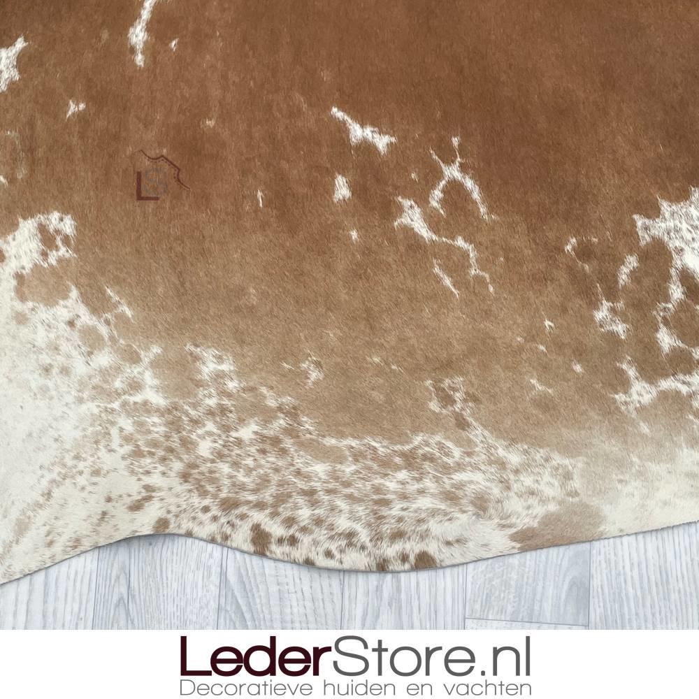 Koeienhuid bruin zwart wit 220x200cm