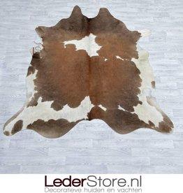Koeienhuid bruin taupe wit 220x215cm