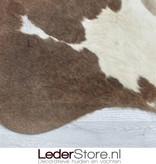 Cowhide rug brown taupe white 220x215cm