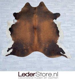 Cowhide rug brown black white 230x215cm