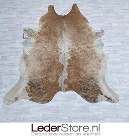 Cowhide rug brown black white 235x200cm
