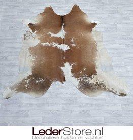 Cowhide rug brown black white 210x220cm