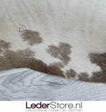 Koeienhuid bruin zwart wit 210x220cm