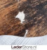 Cowhide rug brown black white 230x230cm