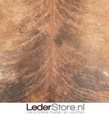 Koeienhuid bruin zwart wit 230x230cm