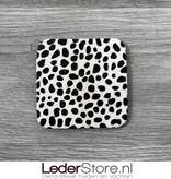 Cowhide coasters dalmatian 10x10cm