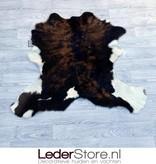 Calfhide rug brown black white 85x100cm