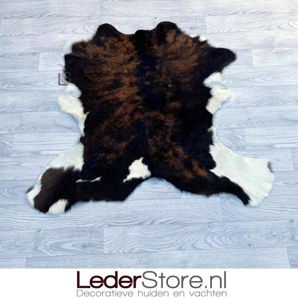 Kalfshuid bruin zwart wit 85x100cm
