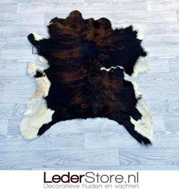 Calfhide rug brown black white 95x85cm