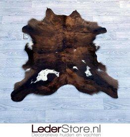 Kalfshuid bruin zwart wit 90x100cm