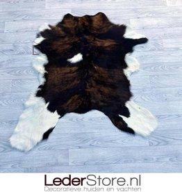 Kalfshuid bruin zwart wit 105x95cm