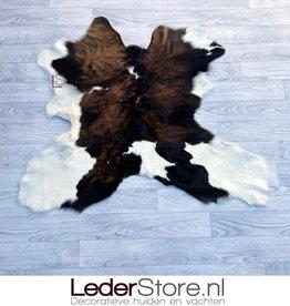 Calfhide rug brown black white 90x100cm