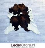 Kalfshuid bruin zwart wit 100x95cm