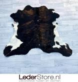Calfhide rug brown black white 95x100cm
