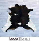 Calfhide rug brown black white 95x105cm