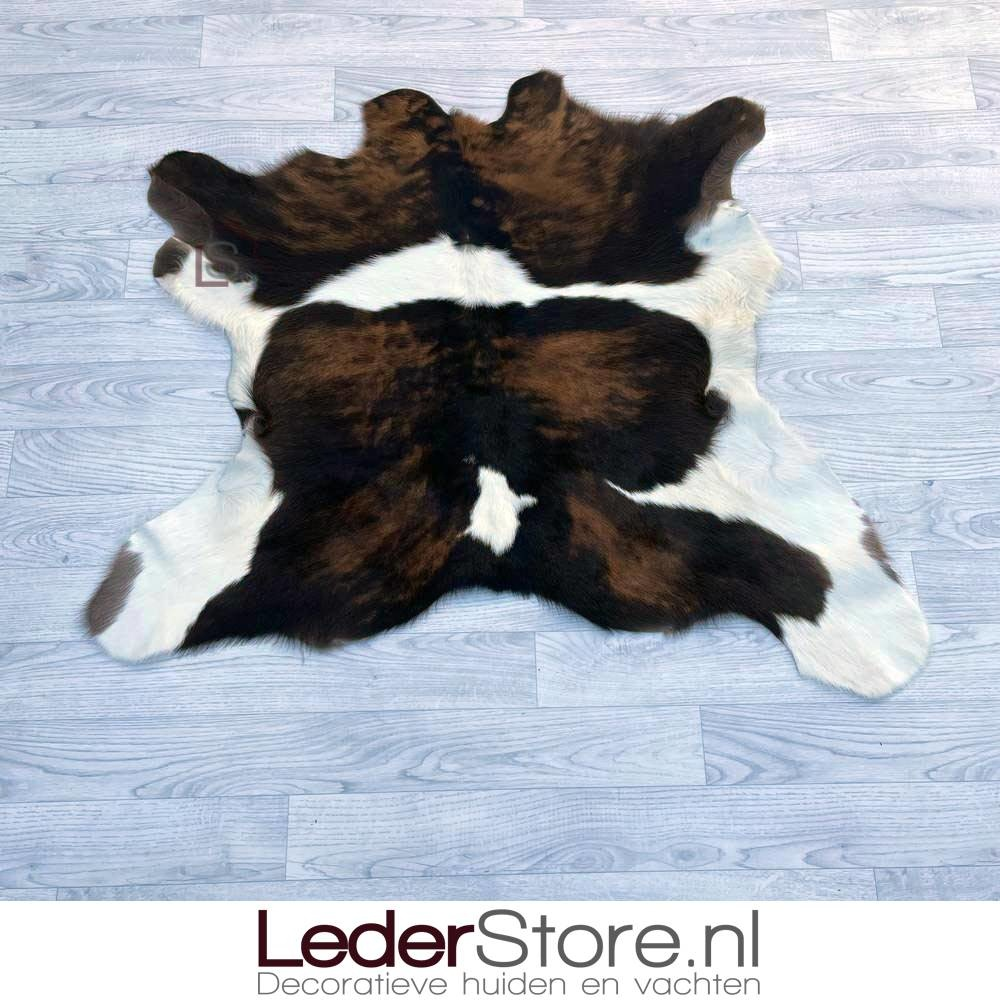 Calfhide rug brown black white 95x110cm