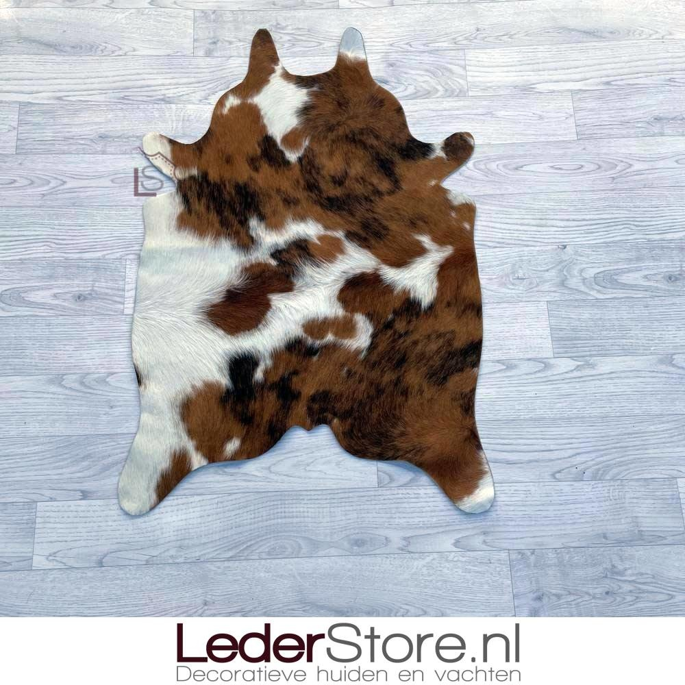 Mini cowhide rug brown black white 90x60cm