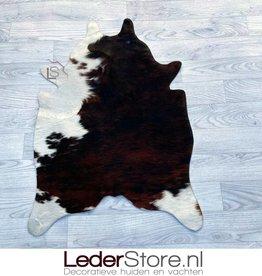 Kleine koeienhuid bruin zwart wit 90x60cm