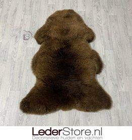 Schapenvacht bruin wit 125x85cm XL