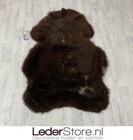 Sheepskin brown white 135x95cm XXL