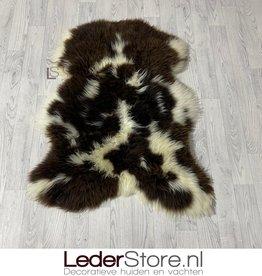 Sheepskin brown white 110x85cm L