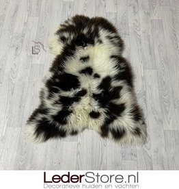 Sheepskin brown white 105x80cm L