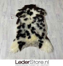 Sheepskin brown white 125x85cm L