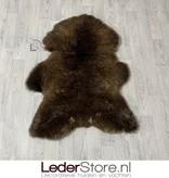 Schapenvacht bruin wit 105x75cm L