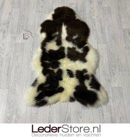 Sheepskin brown white 110x75cm L