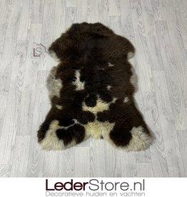 Sheepskin brown white 105x75cm L
