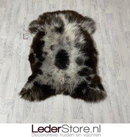 Sheepskin brown white 120x85cm XL