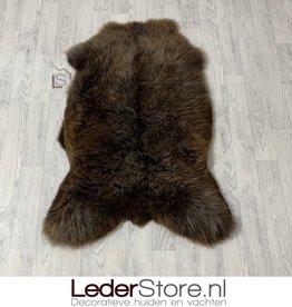 Sheepskin brown white 115x80cm L