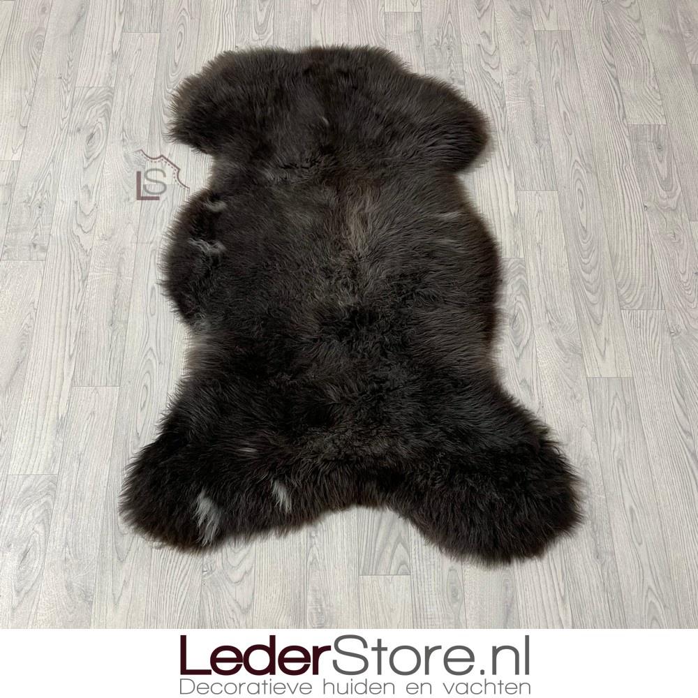 Schapenvacht bruin grijs wit 120x85cm XL