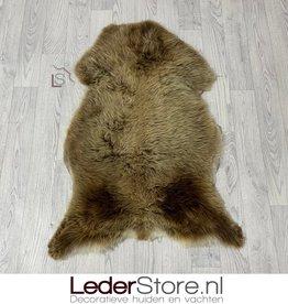 Sheepskin brown white 95x70cm M