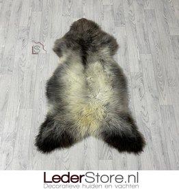 Sheepskin brown creme grey 115x75cm L