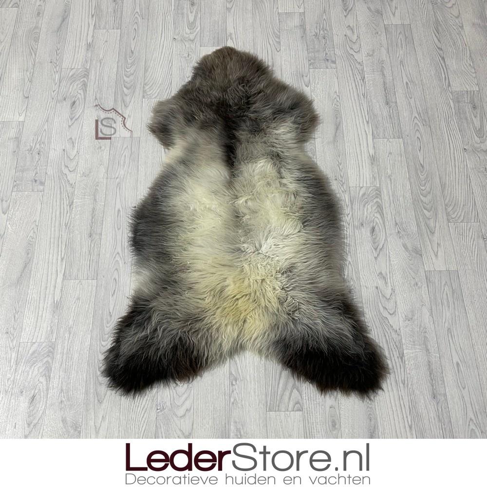 Schapenvacht bruin creme grijs 115x75cm L