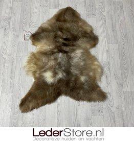 Sheepskin brown white creme 95x75cm M