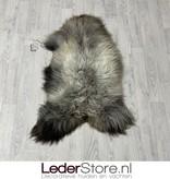 Schapenvacht bruin grijs wit 105x70cm L