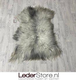 Sheepskin grey white 115x85cm L