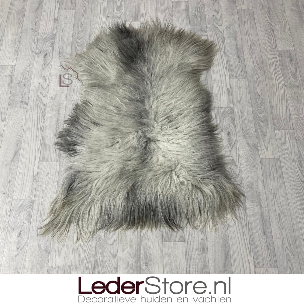 Schapenvacht grijs wit 115x85cm L