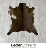 Geitenhuid bruin wit 90x75cm
